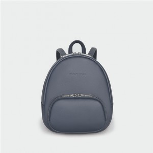 Backpack XS Blue/Grey Saffiano